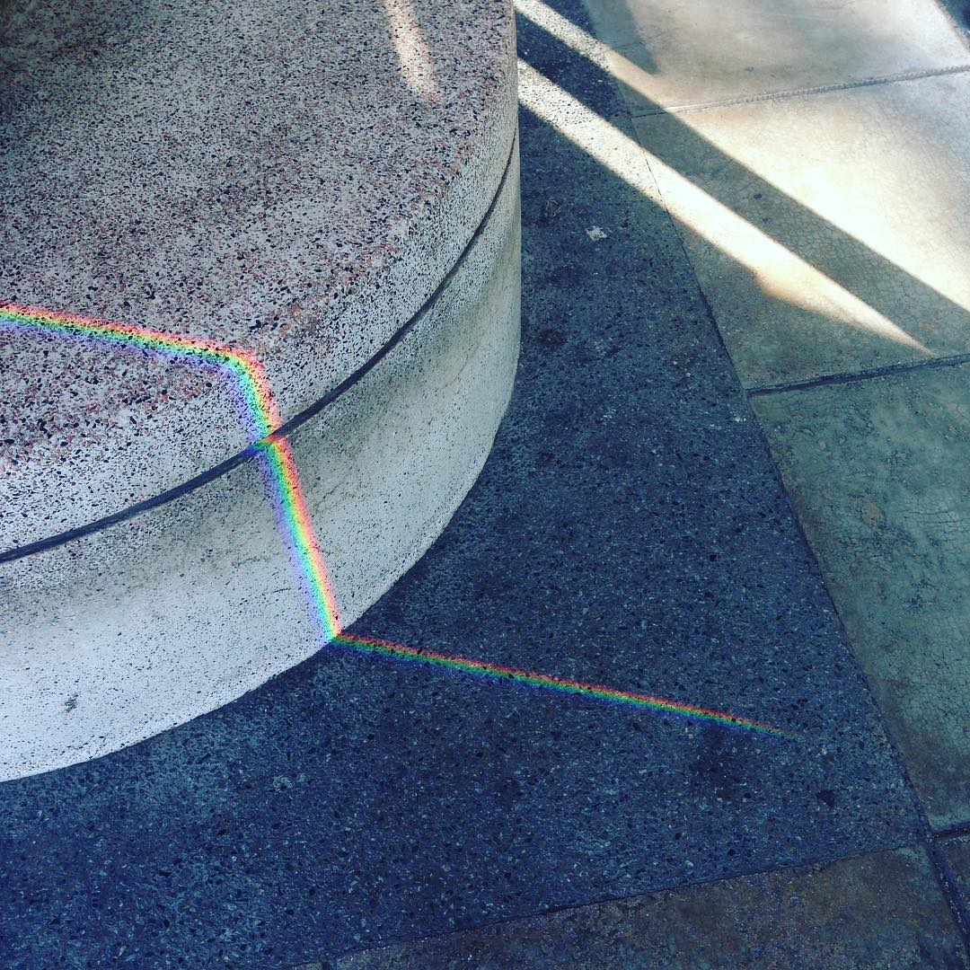 A rainbow just 'round the corner  #littlemoments in #Singapore #nature #fadinglights
