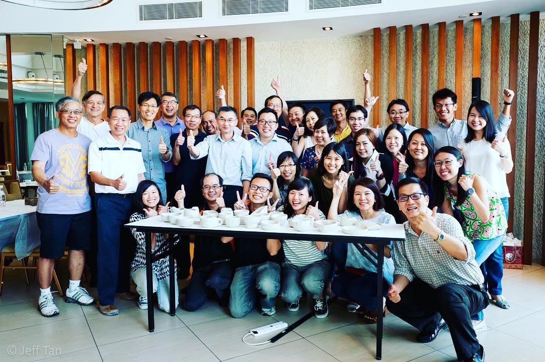 This corporate workshop was particularly meaningful for us  as the participants were our ex-bosses and ex-colleagues from our previous company!  Kenneth and I were in the same department (during different years), and these are the people whom we shared many years of hard work, late nights, coffee and good meals together. It is a very nice feeling to see everyone again - not just as colleagues but friends!  Thank you for all those years of memories and for your continued support! :) #friendship #studioasobi