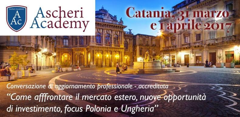Seminario internazionalizzazione focus UK, Ungheria e Polonia 31.03.1017 e 01.04.2017 – Catania Sheraton Hotel