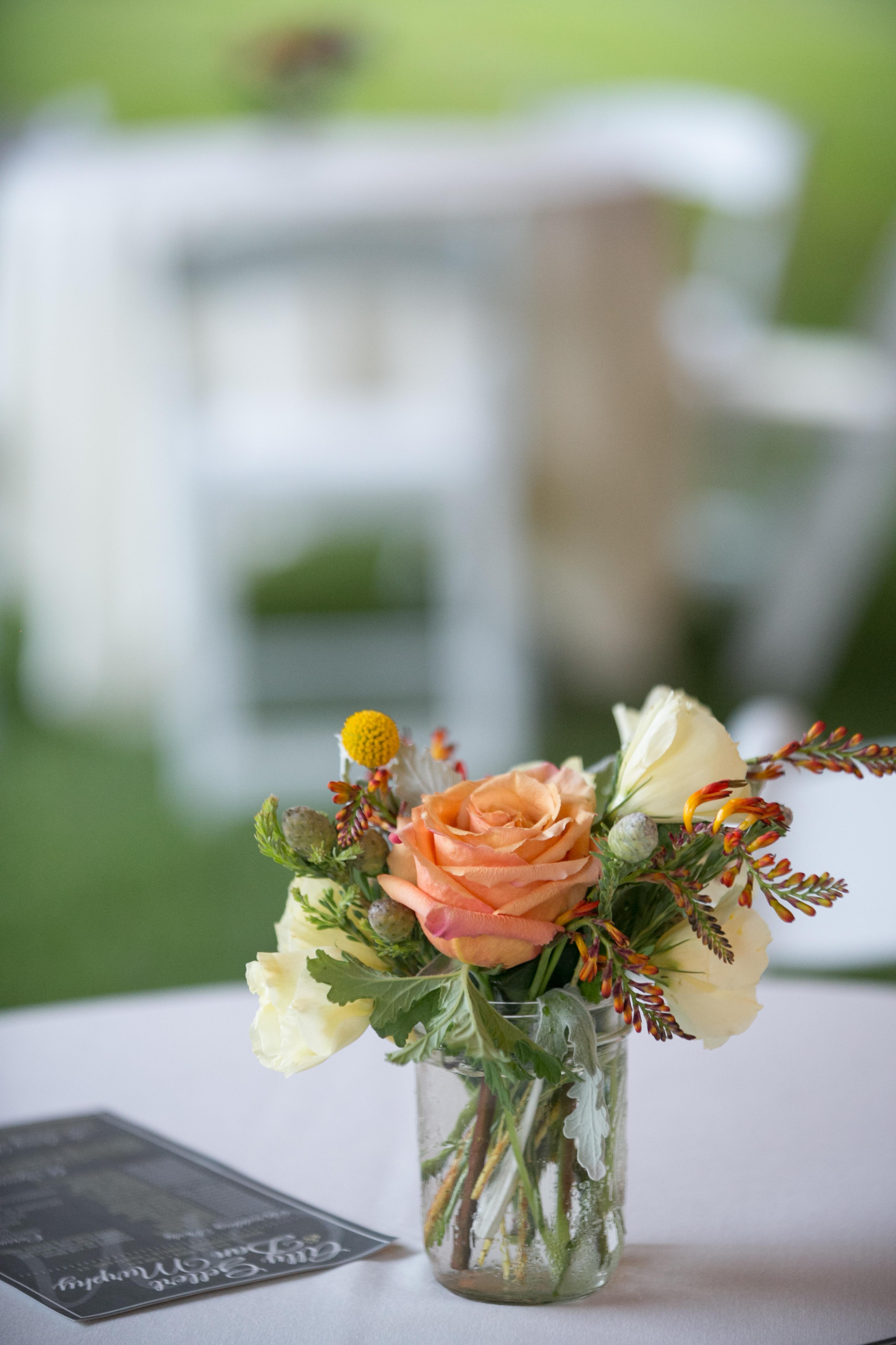 Rustic Yellow and Orange Summer Wedding  Blush Floral Design