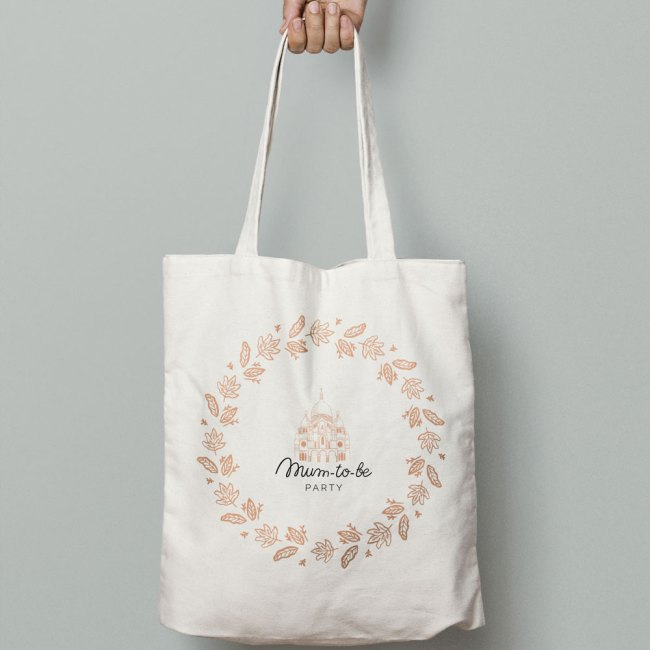 Mum-to-be Party tote bag