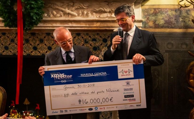 MARINA GENOVA XMaster: i protagonisti dello Yachting Internazionale a Genova donano fondi per le famiglie delle vittime del Ponte Morandi