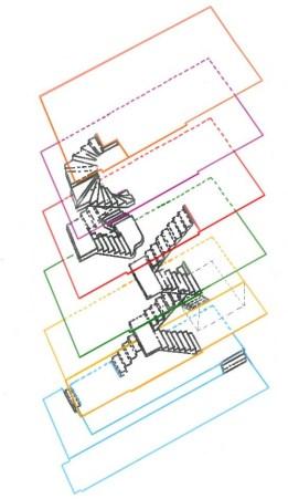 Axonométrie des escaliers