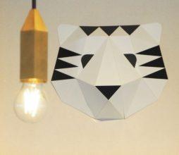Le logo kawaii de Papier Tigre.