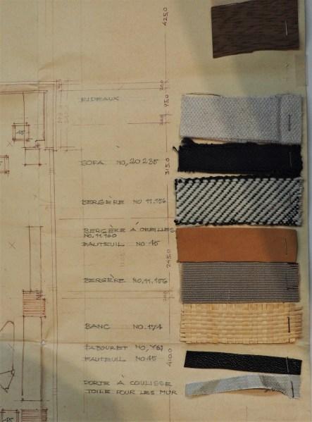 Alvar Aalto - Planche de tissus