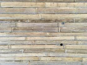Impression bambou sur béton