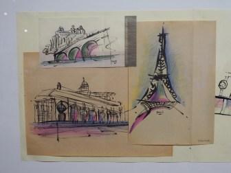 Croquis parisiens par Tadao Ando