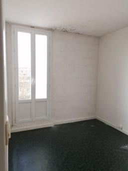 vue sur une ancienne chambre...avant