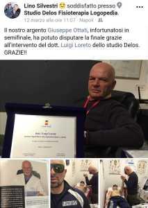 Riconoscimento Napoli Boxe per il dott. Luigi Loreto