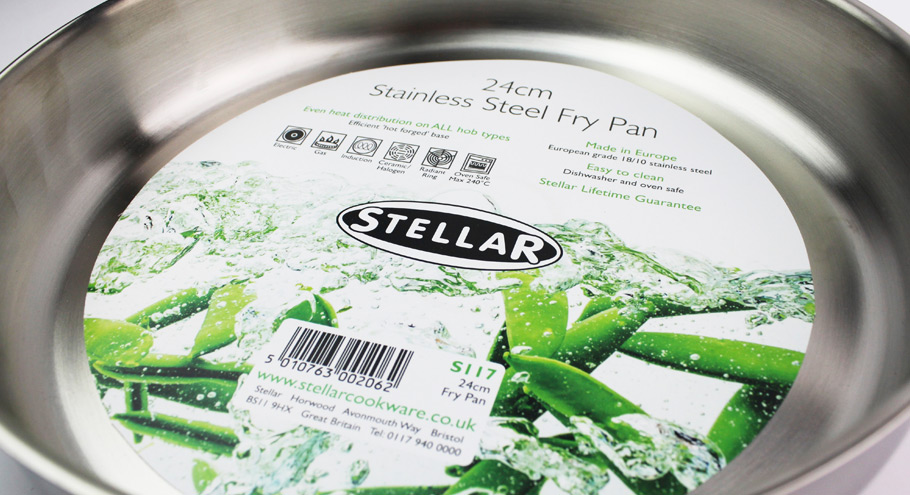 stellar frying pan label