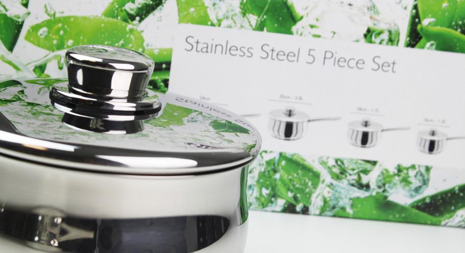 stellar saucepan and packaging