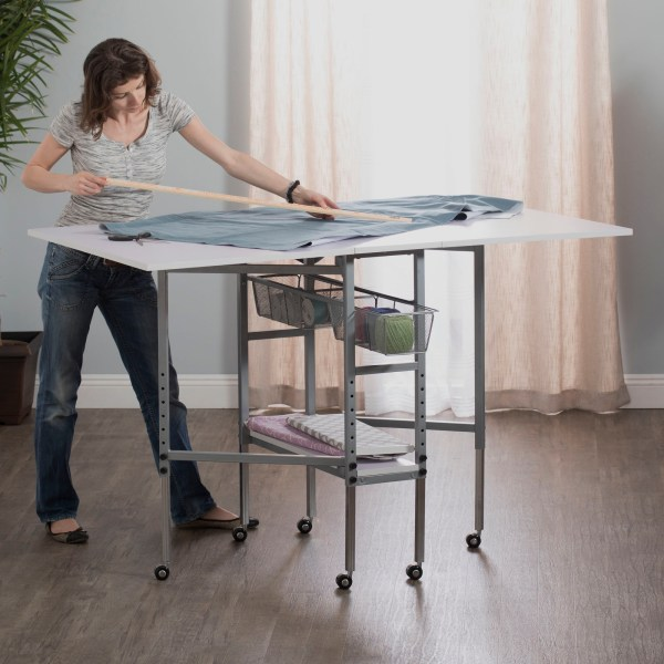 Mobile Height Adjustable Hobby And Craft Cutting Table