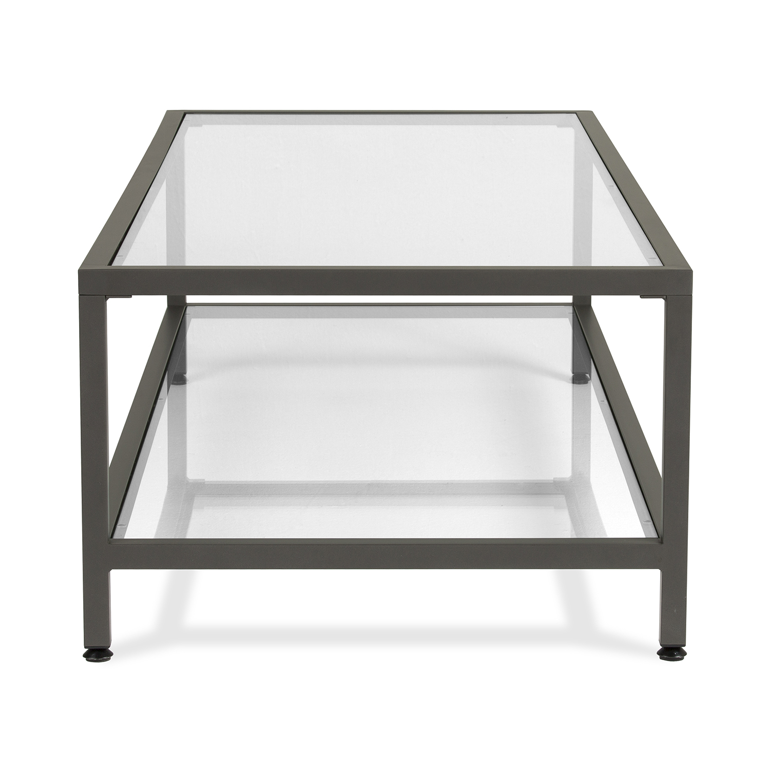 camber modern glass coffee table in