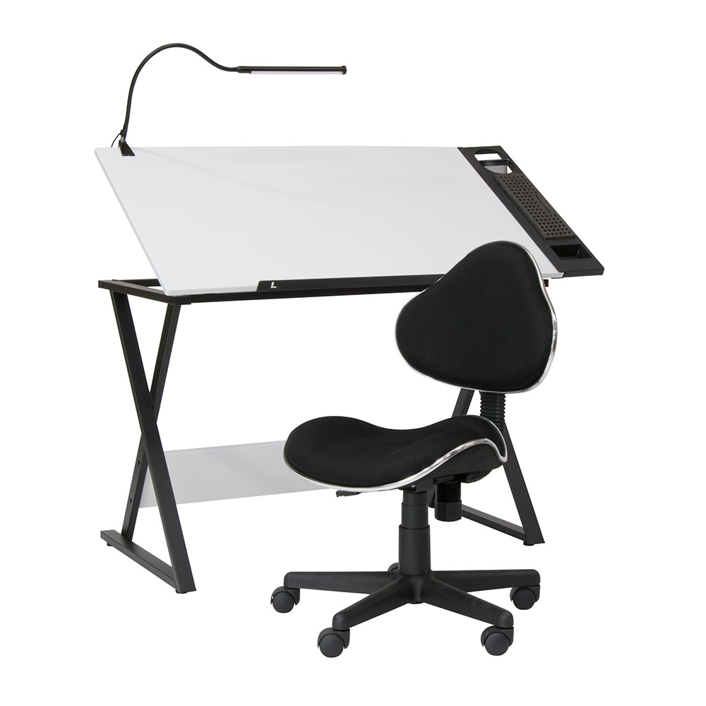 drafting table chairs plus size lawn axiom 4 piece set with mode chair led bar lamp and 19661 pc
