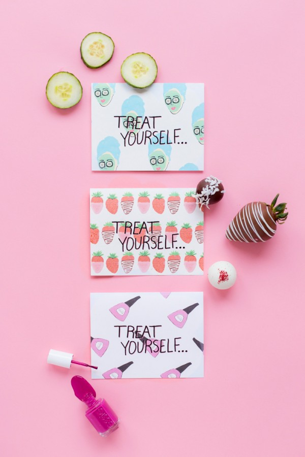 Treat Yourself Mothers Day Printables Sweets Studio DIY