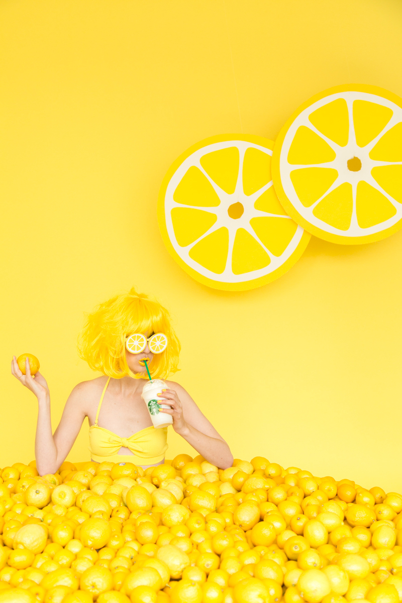 When Life Gives You Lemons DIY Lemon Photo Booth Studio DIY