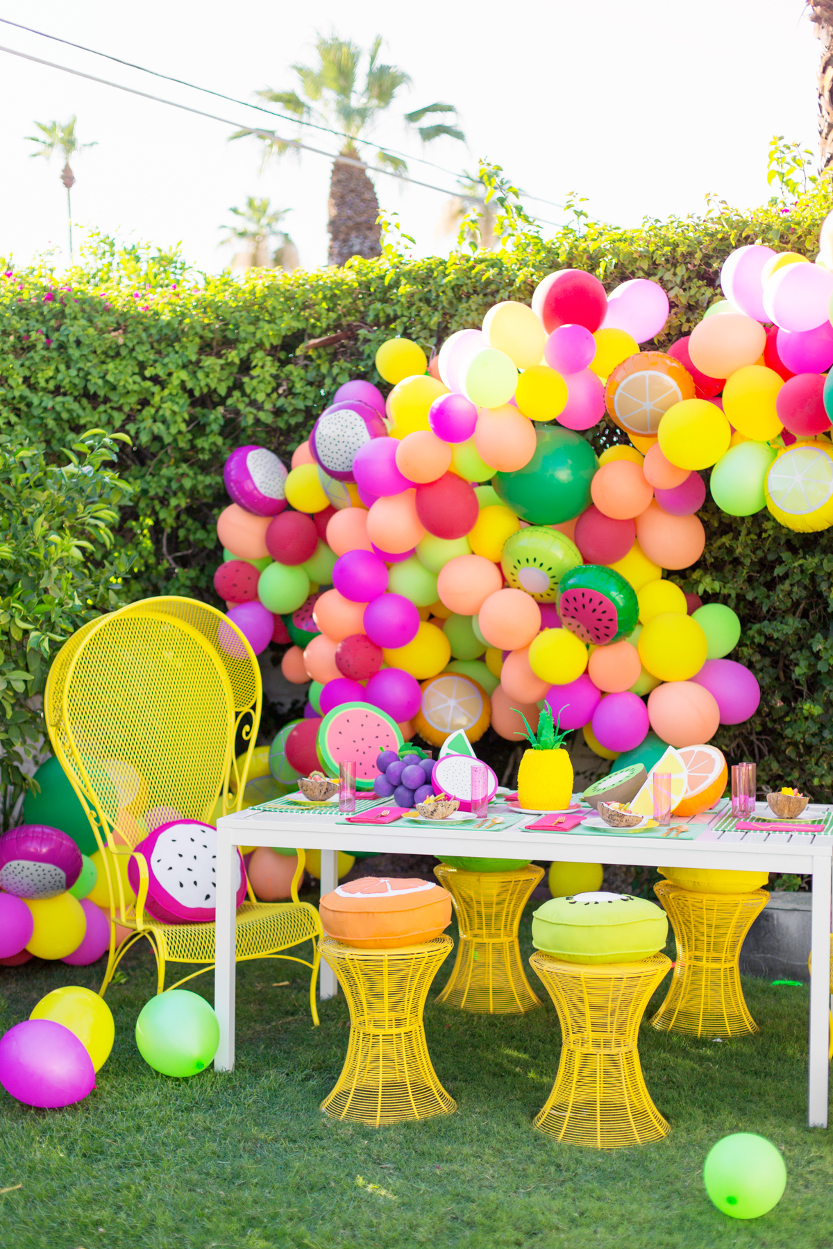 DIY Fruit Balloon Garland Studio DIY