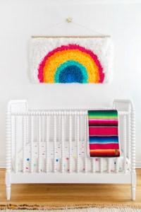 DIY Rainbow Latch Hook Wall Hanging - Studio DIY