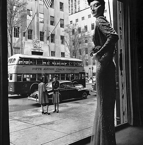 Escaparate de los años 1940 en New York