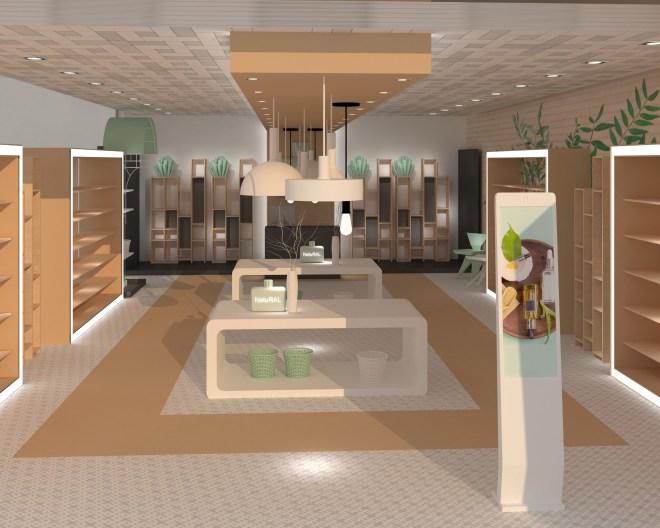 Diseño de espacio comercial - equipamiento establecimientos -