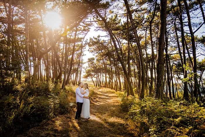 photo en amoureux à la plage