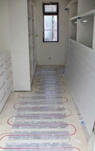 Master Closet RAU floor hydronic heating