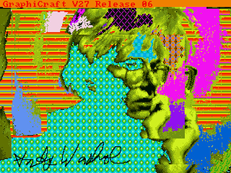 Andy2, 1985, Andy Warhol (American, 1928-1987), Digital image, from disk 1998.3.2129.3.4, The Andy Warhol Museum, Pittsburgh;