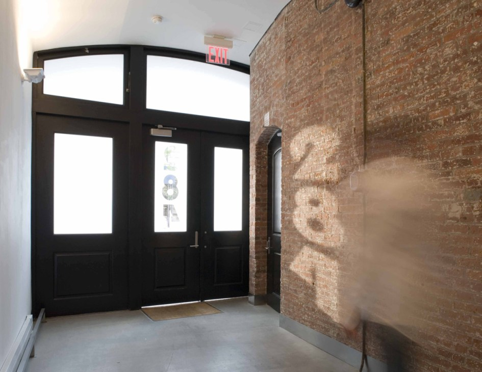 soho new york lobby :: industrial minimalism ... interior designer created sun shadows