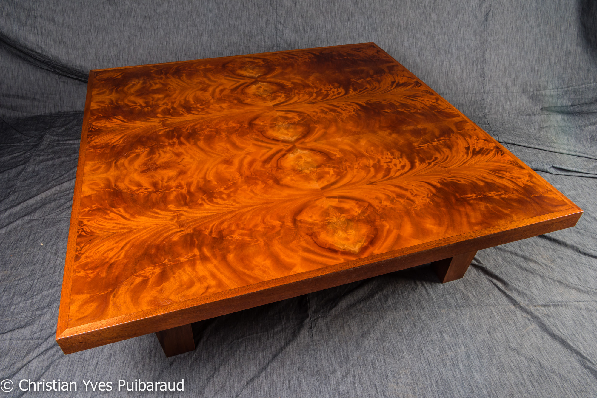 Honduran Mahogany Crotch Coffee Table  StudioFurnitureMaui