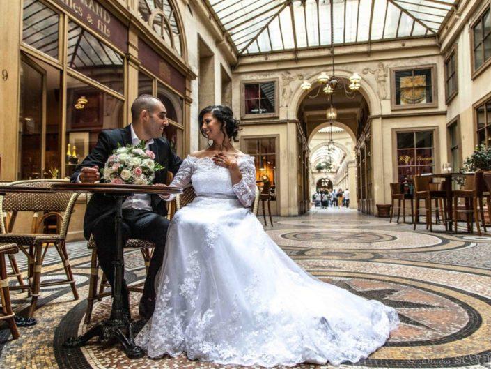 photo shooting mariage assis café