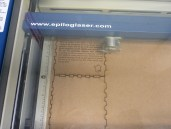 Laser cutting the sides of the box