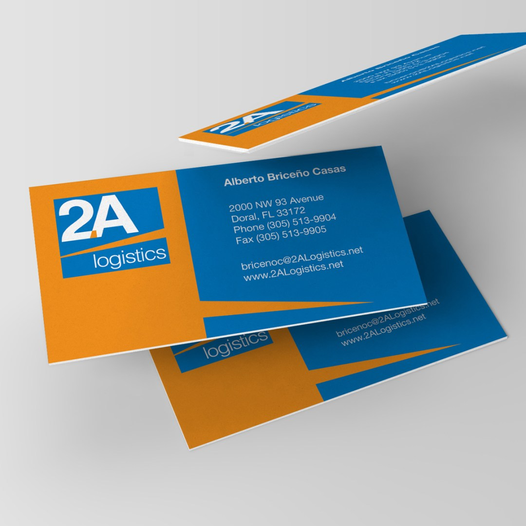 2A Logistics' Printed Business Card