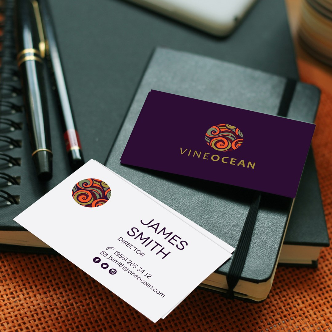 Vineocean's Printed Business Card