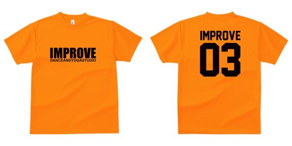 STUDIO-IMPROVE-T-SHIRTS-オレンジ