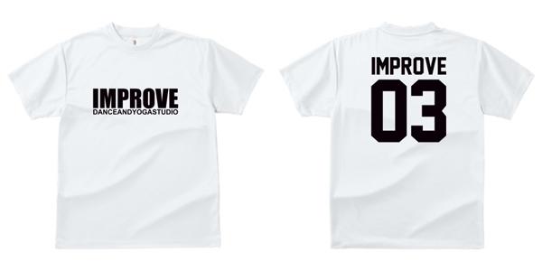 STUDIO-IMPROVE-T-SHIRTS-ホワイト