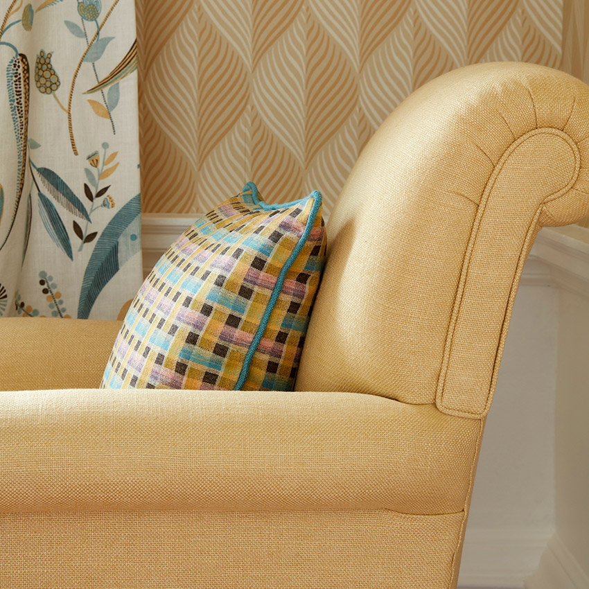 Upholstery image courtesy of Nina Campbell © at Osborne & Little Ltd.