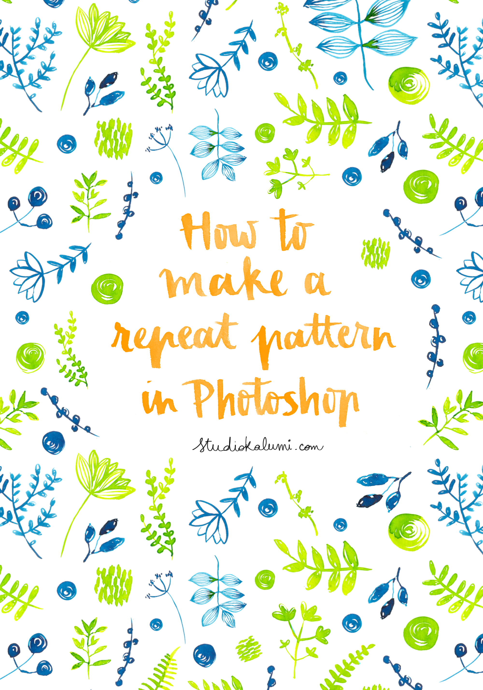 Tutorial 2 How To Make A Repeat Pattern In Photoshop