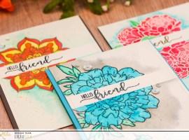 Watercolour Cards with Liliuska