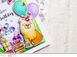 Happy Birthday Shaker Style Card with Olga
