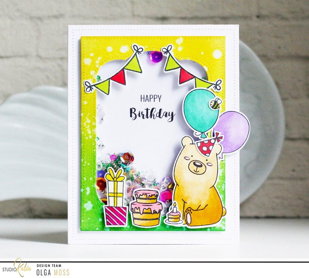 Happy Birthday Shaker Style Card with Olga