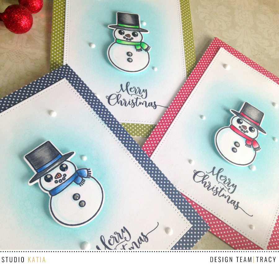bulk making holiday cards with tracy