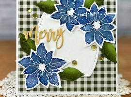 Inspired Poinsettia in Blues and Greens