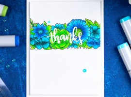 Simple Thank You Card with Floral Trimmings