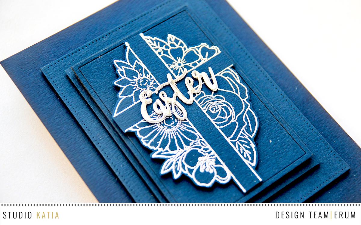 Studio Katia Floral Cross Stamp Set | Erum Tasneem | @pr0digy0