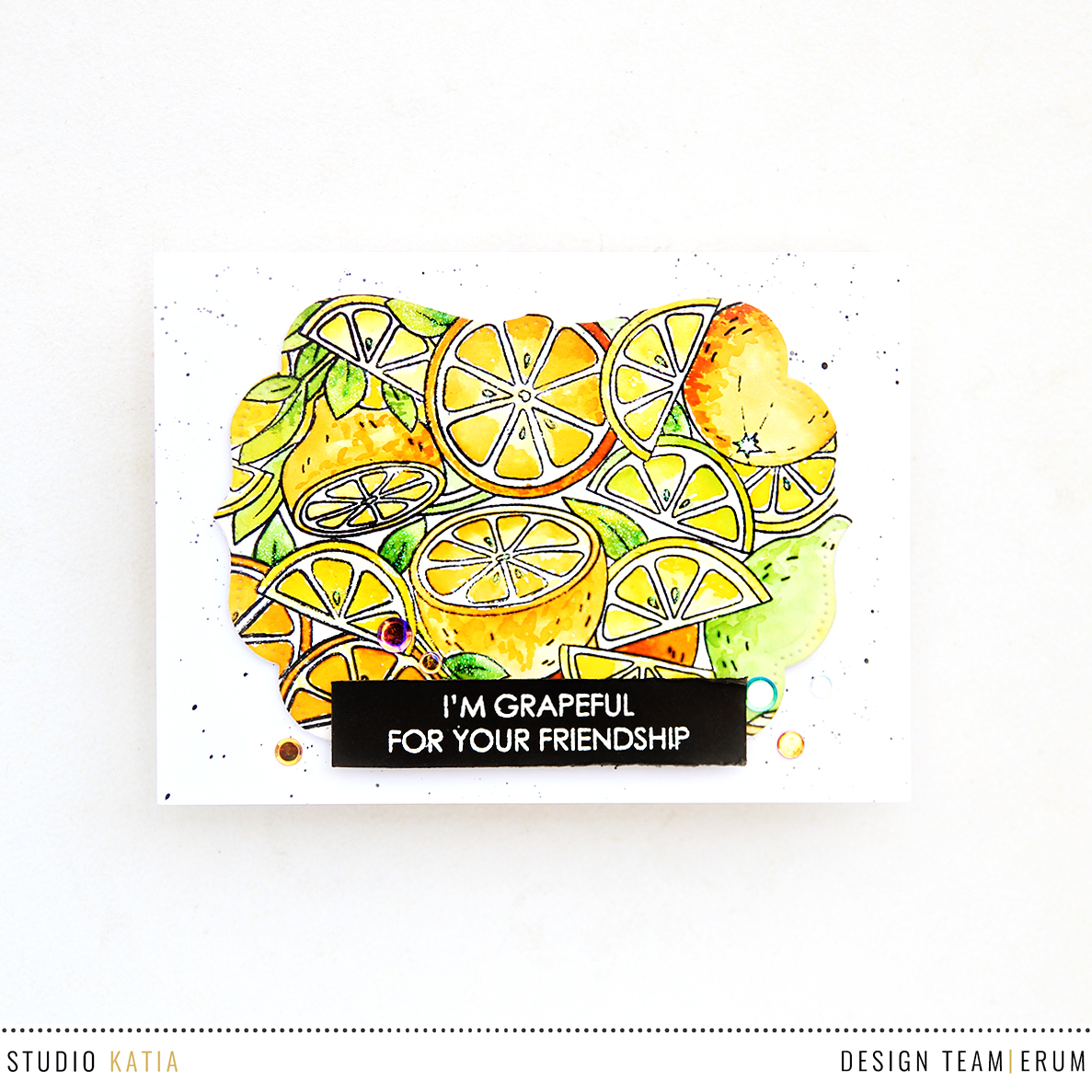 Studio Katia Citrus Trimmings Stamp Set | Erum Tasneem | @pr0digy0