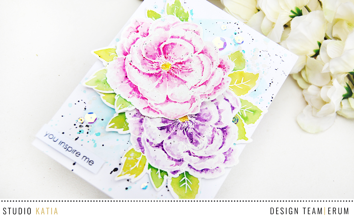 Studio Katia Japanese Peony Stamp Set | Erum Tasneem | @pr0digy0