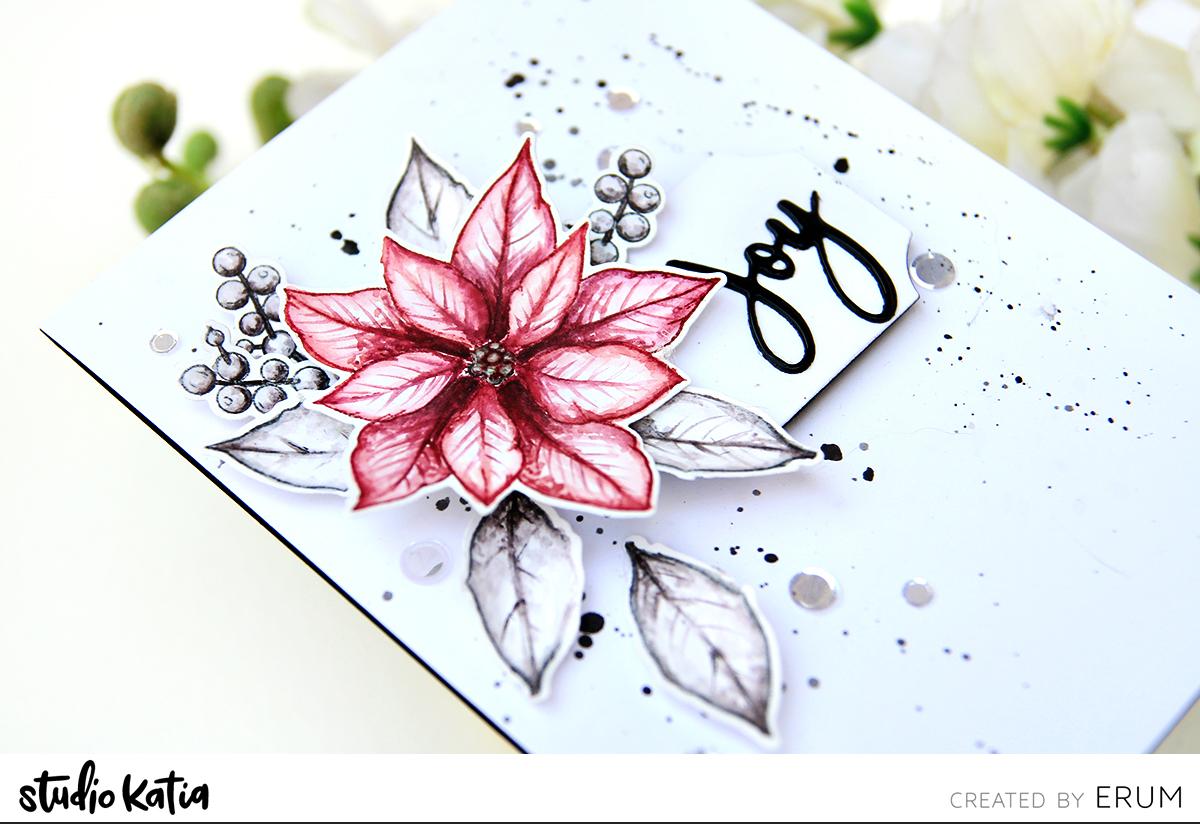 Merry Poinsettia Stamp Set | Erum Tasneem | @pr0digy0