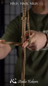 Studio Kokoro Shibari rope Tutorial Hitch hitch hitch