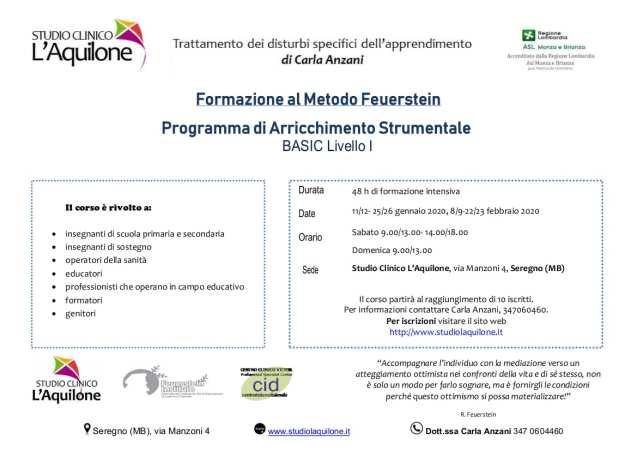 Partecipa al corso Feuerstein P.A.S. BASIC livello 1