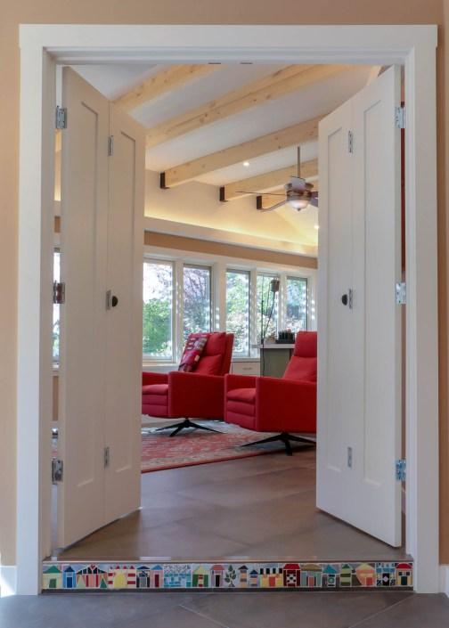 Doors to living area